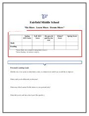 Fairfield MS 2015-16 NWEA MAP Goal Setting FINAL