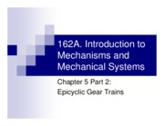 162A 5-2 - Epicyclic Gear Trains