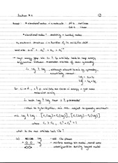 CHEM 40 Spring 2014 Notes on Lecture 11