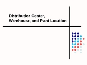 LSCM 360 - Warehouse Slides & Example