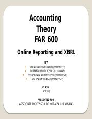 XBRL Reporting