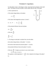 Recitation Worksheet U Solutions