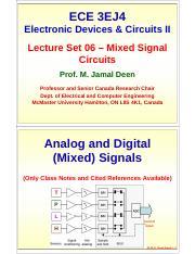 Set06-MixedSignals pdf - ECE 3EJ4 Electronic Devices