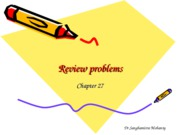 Review problems Unit III