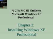 Windows Xp Professional Chapter 02