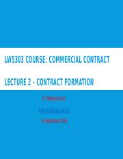 Lecture II Commercial Contracts