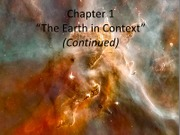 Ch1_Earth in Context-part II
