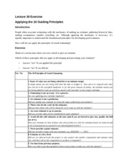 Lecture 30_Applying the 10 Guiding Principles