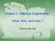 Lecuture 2 Software Engineering