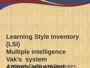 lec 3-learning styles