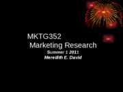 Mktg Research Process