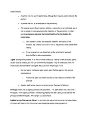 Agents, Principles - Class Note