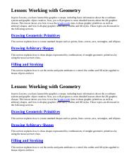 working with geometry
