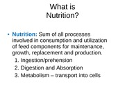 (330403525) Lecture 2 and 3 Nutrition and Nutrients