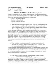 Transitioning student lesson plan assignment