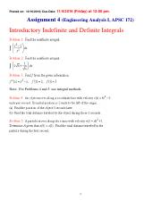 Chapter 4   - Assignment - Integration (Problems)(2).pdf