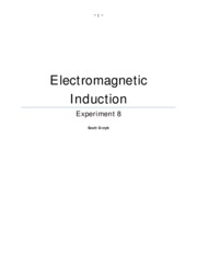 Electromagnetic Induction exp 8