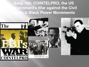 Aasp 100 COINTELPRO