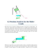 Section 4.2 - Slider-Crank Position Analysis