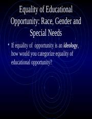 Equality of Educational Opportunity.ppt