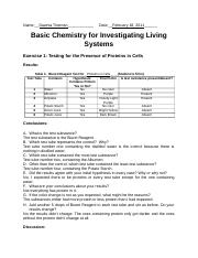 Basic Chemistry for Investigating Living Systems
