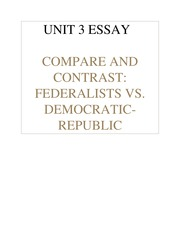 great depression and new deal essay rodriguez maria rodriguez 4 pages unit 3 essay federalists vs democratic republicans