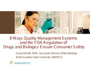 BEC 220 Spring 2015 Lecture 12 The FDA (Crystal Booth, Novartis)