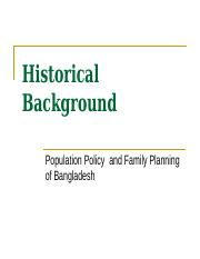 historical background of family planning pdf