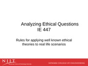 W2 - Applying Well-known Ethical Theories