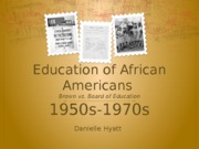 Education of African Americans-1