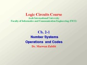 Ch. 2-1 Number Systems, Operations, and Codes