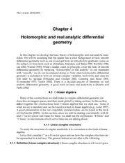 Holomorphic and real analytic differential geometry