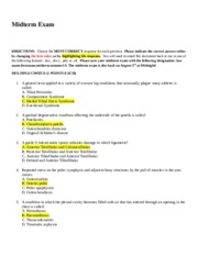 Body Analysis Worksheet with Solutions
