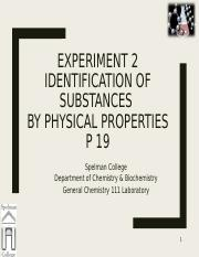 Experiment 2 Identification of Substances by Physical Properties F17.ppt