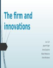 The firm and innovations