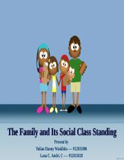 The Family and Its Social Class Standing PPT tugas.ppt