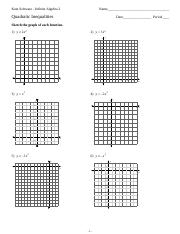 Quadratic Inequalities - Kuta Software Infinite Algebra 2 Name ...