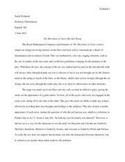 The Merchant of Venice Review Essay