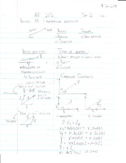 2-D and 3-D Vector Notes