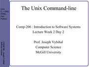 COMP 206 Lecture Week 2 Day 2 - Command Line v2