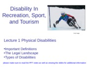 Lecture 1- Physical Disability Info - Copy