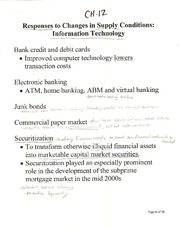 Ch. 12 Notes (Cont.) (BUS G-345; Money, Banking; and Capital Markets; Self)