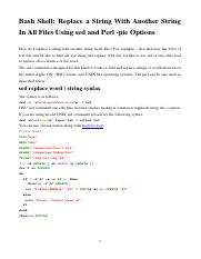 Replace a String With Another String In All Files Using sed and Perl -pie Options.pdf