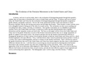 The Evolution of the Feminine Movement in United States and China Bibliography