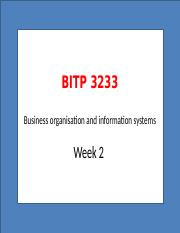 LECTURE 2 BUSINESS ORGANISATION ENVIRONMENT AND INFORMATION SYSTEM (1)