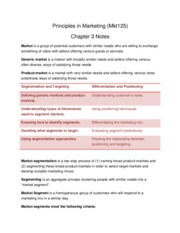 Principles of Marketing Chapter 3 Notes