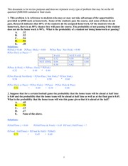 QMB Final Exam Review-Detailed Solutions