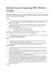 Module 3 part 2 Applying HCI Website Design