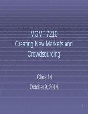 MGMT 7210 Class 14 Creating New Markets and Crowdsourcing MakerBot.pptx