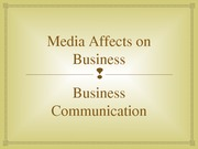Student Project- How Media Affects the Businesses